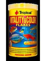 Tropical Pokarm dla ryb Vitality & Color płatki 1000ml