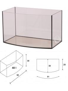 Wromak Akwarium profilowane 50x30x30 40l