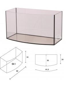 Wromak Akwarium profilowane 60x30x33 54l