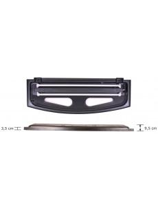 Wromak Pokrywa czarna profilowana 150x50